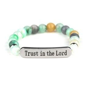 Trust Always - Green Bracelet